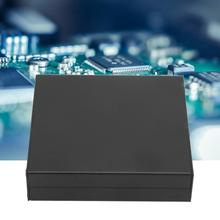 Frosted Black Extruded Aluminum PCB Instrument Project Box Case DIY Electronic wire junction box 25x98x100mm 1 piece free shipping aluminum electrical housing with wall mounting aluminum junction box szomk for pcb diy case electronics