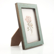 1 Pza marco de fotos 5 colores 17.6X12.6cm creativo diy Vintage marco de fotos decoración del hogar de madera casamento de la boda marcos # C