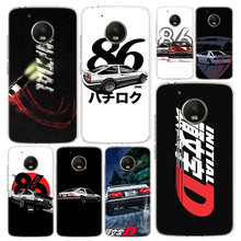 Hot Japan Initial D anime Phone Case Cover For Motorola Moto G8 G7 G6 G5 G5S G4 E6 E5 E4 Power Plus Play One Action Macro Vision(China)