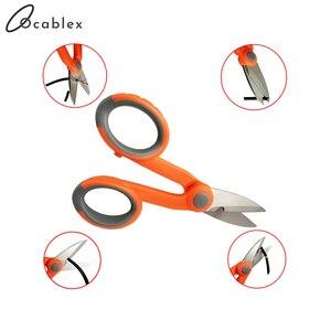 Image 3 - 10 sztuk/partia nożyce Kevlar wygodne włókna kabel ze zworką nożyczki narzędzie tnące do światłowodu włókno aramidowe