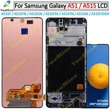 لسامسونج غالاكسي A51 LCD مع الإطار محول الأرقام الاستشعار الجمعية لسامسونج A51 عرض A515 A515F A515F/DS ، A515FD A515FN/DS