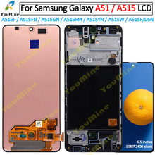 Tela lcd com digitalizador para samsung galaxy, display de montagem para samsung galaxy a51 a515 a515f a515f/ds a515fd a515fn/ds