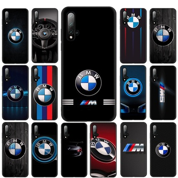 bmw Mobile Phone Case Black TPU Soft For Huawei P8 P9 P10 P30 P20 Lite Mini 2019 2018 P20 P30 Pro Cover image