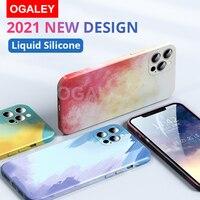 Custodia per acquerello di lusso per iPhone 12 Pro Max 11 Pro Max 12 11 11Pro custodia Cover liquida in Silicone per iPhone 11 x s xr se 7 8 Plus