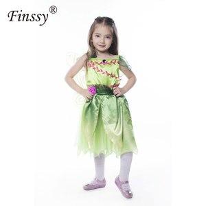 Image 5 - 나비 꽃 요정 코스프레 의상 소녀 할로윈 카니발 축제 파티 성능 드레스 날개 Garlands 포함