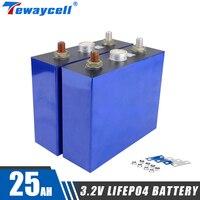 25Ah Lifepo4 5C batteria 3.2V Bateria litio ferro fosfato prismatico nuove celle solari fai da te 12.8V 24V UPS e-bike AGV sedia a rotelle