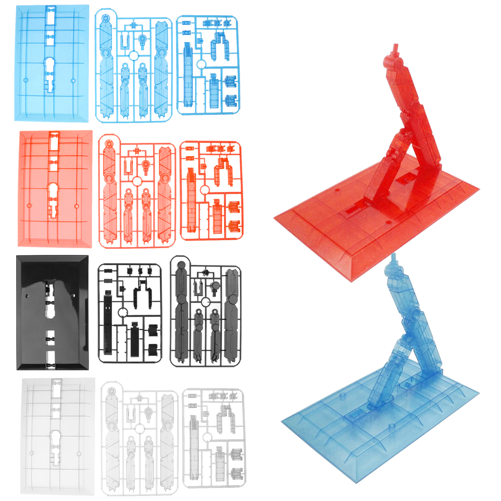 Action Base Display Stand Hold For 1/60 1/100 PG MG Gundam Figure Model Toy - Clear/ Blue/ Red/ Black Optional