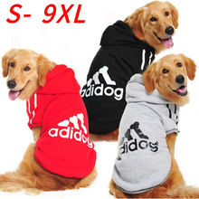 Büyük Pet köpek giysileri kazak kış sıcak Adidog köpek giyim Labrador Yorkies orta büyük Bulldog fransız köpek Hoodie