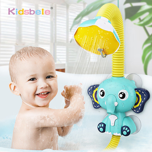 Bath Toys Baby Water Game Elephant Model Faucet Shower Electric Water Spray Toy For Kids Swimming Bathroom Baby Toys(China)