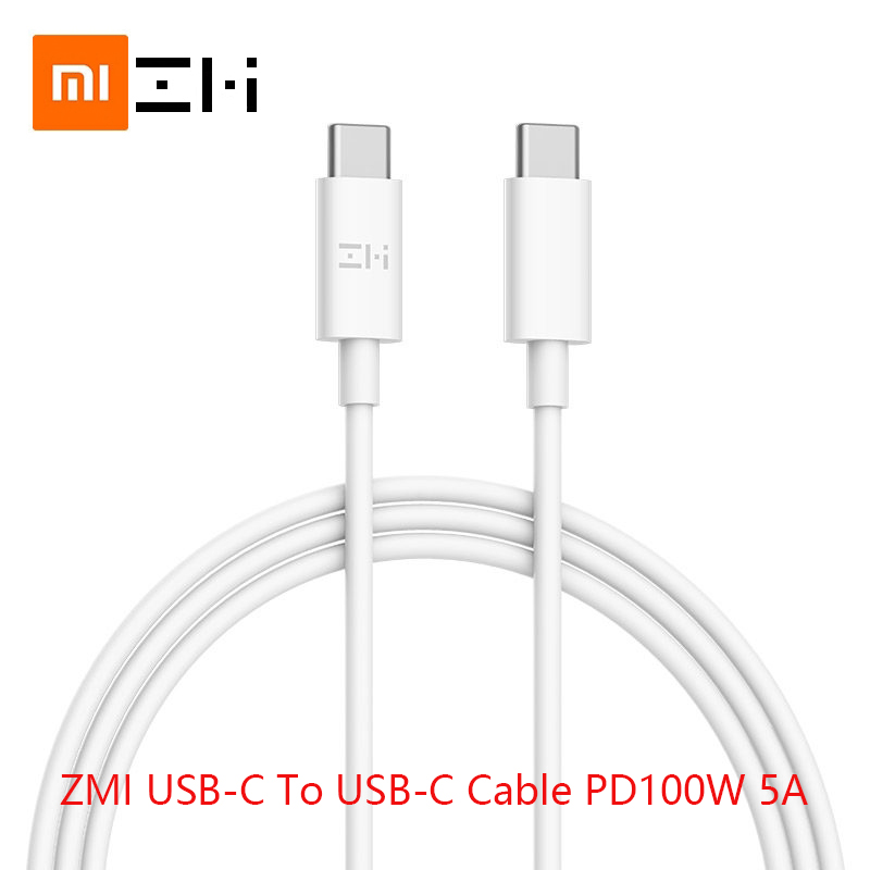 ZMI <font><b>100W</b></font> 5A usb type c to usb type c cable PD <font><b>charger</b></font> for MacBook Samsung huawei xiaomi notebook Power cable <font><b>Fast</b></font> charging data image