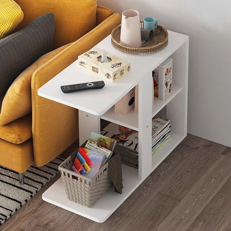 Б современный диван для гостиной угловой журнальный столик имитация дерева боковые шкафы прикроватный журнальный столик - Цвет: Style 3
