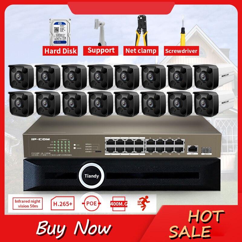 GLVISION 16CH 4MP POE NVR Kit Security Camera System IR Indoor Outdoor CCTV PoE IP Cameras P2P View Video Surveillance Set