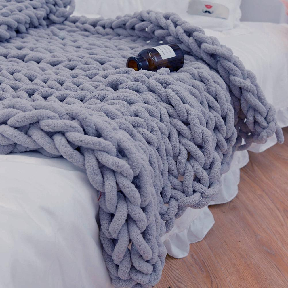 Knitted Blanket For Winter Soft Thick Throw Blankets Comfortable Warm Bed Covers