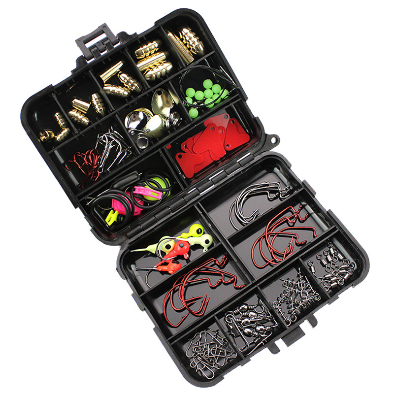 128 Pcs/Set Ocean Rock Fishing Accessories Texas Module Copper Sinkers Lures Lead Weight Tackle Boxes