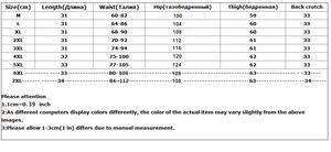 Image 5 - 7XL 새로운 봄 2020 패션 반바지 여성 데님 여성 반바지 솔리드 블루 짧은 청바지 구멍 스타일 플러스 사이즈 여성용 반바지 862