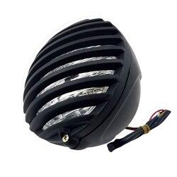 5 Cal reflektor motocyklowy Grill więzienie Chopper Bobber głowy lampa do harleya cafe racer Bobber Xs650 Cb750 dziedzictwo Softail Spor