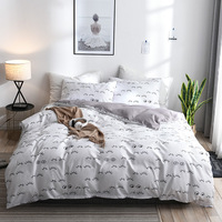 White Pink color Bedding Set FreeShipping Activity Printing Home Textile Eyelashes Printing Bedding Articles Love Pillowcase Hot