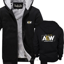 Brand All Elite AEW Wrestling AEW Logo men thick hoodies Winter style fashion brand man hoody cool coats sbz6241