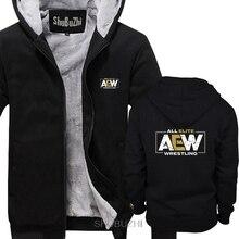 Di marca Tutti I Elite AEW Wrestling AEW Logo degli uomini di spessore felpe con cappuccio di Inverno di stile di modo di marca uomo felpa con cappuccio cappotti freddi sbz6241