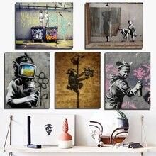 Граффити плакат винтажная Картина на холсте Печать Гостиная