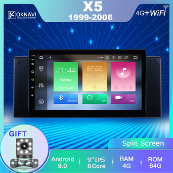 OKNAVI Android 9.0 2Din for BMW-w X5 E39 1999-2006 Car Multimedia Video Player Car Radio Stereo 9 Inch GPS Navigation With DSP image