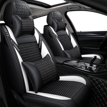 цены Five-piece car cushion  car seat cover set luxury leather universal protector five color  Four Seasons camry 2018 se  toyota