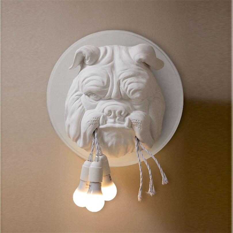 Dier Hond Wandlamp Woonkamer Decoratie Gang Gepersonaliseerde Home Decor Verlichting Designer Ktv Bulldog Wandlampen voor Thuis - 2