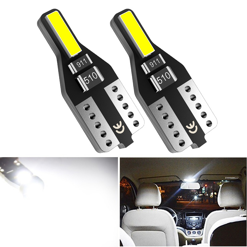 2pcs T10 W5W <font><b>LED</b></font> 168 194 7020 SMD Car Interior Bulb Map Light For <font><b>Peugeot</b></font> 307 206 308 <font><b>407</b></font> 207 4008 Mazda 3 6 CX-5 323 5 2 CX5 image