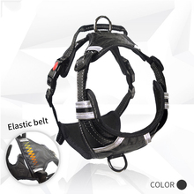Nylon Vest Dog Harness reflective for large dogs mesh padded waterproof adjustable pet products  Dog suppliers Black S M L XL