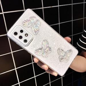 Image 1 - Custodia morbida trasparente per telefono con farfalla glitterata per Samsung Galaxy A72 A52 A71 A51 A12 A42 A21S A50 A70 A10 A30 conchiglia carina
