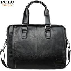 Викуньи поло новое поступление высокое качество кожи мужская сумка-почтальонка с передний карман Марка Для мужчин Портфели Сумка для