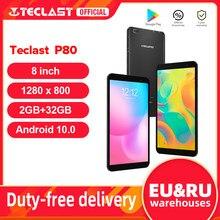 Teclast – tablette PC de 8 pouces P80, avec Android 10, Allwinner A133, 2 go de RAM, 32 go de ROM, 1280x800 IPS, Quad Core, Dual Wifi, Bluetooth 5.0