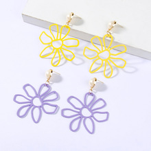 Korean Hipsters, Earrings, Temperament, European and American Exaggerated Large Flower Earrings Big