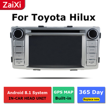 ZaiXi android car dvd gps multimedia player For Toyota Hilux 2004~2015 car dvd navigation radio video audio player yessun for toyota prado 120 2004 2009 android car gps navigation dvd player multimedia audio video radio multi touch screen