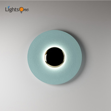 Light luxury post-modern ceiling bedside decoration background wall light personalized UFO wall lamp