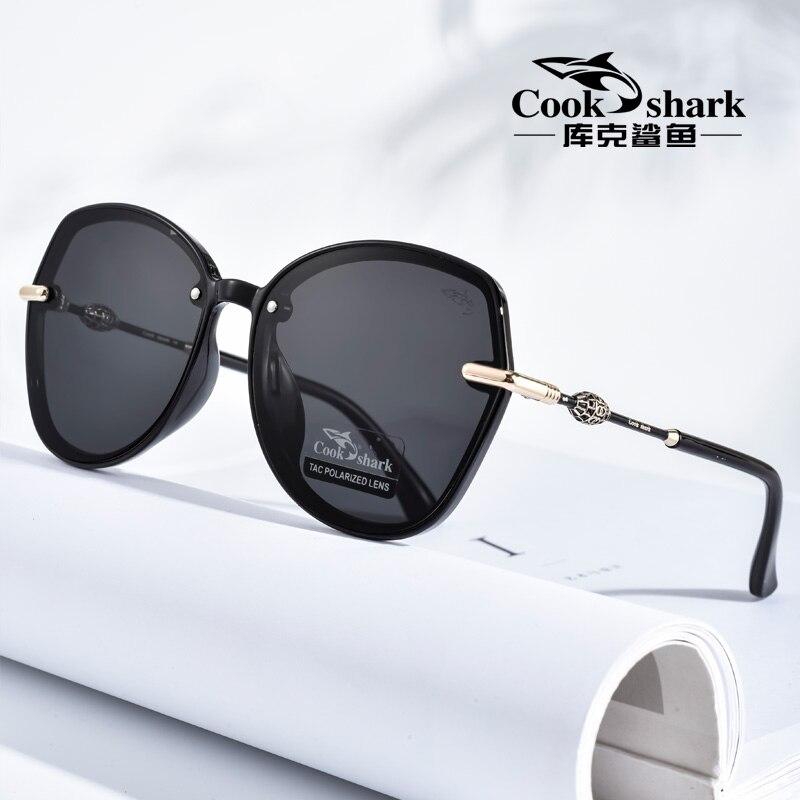 كوك القرش 2020 جديد كبير الإطار النظارات الشمسية السيدات النسخة الكورية من المد النظارات الشمسية الاستقطاب القيادة UV نظارات حفظ نظر