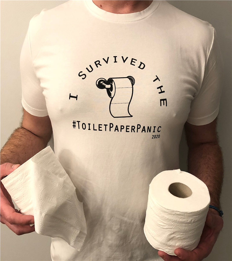Funny T Shirt Poking Fun At The Toilet Paper Panic Buying Due To Short Papers Tee