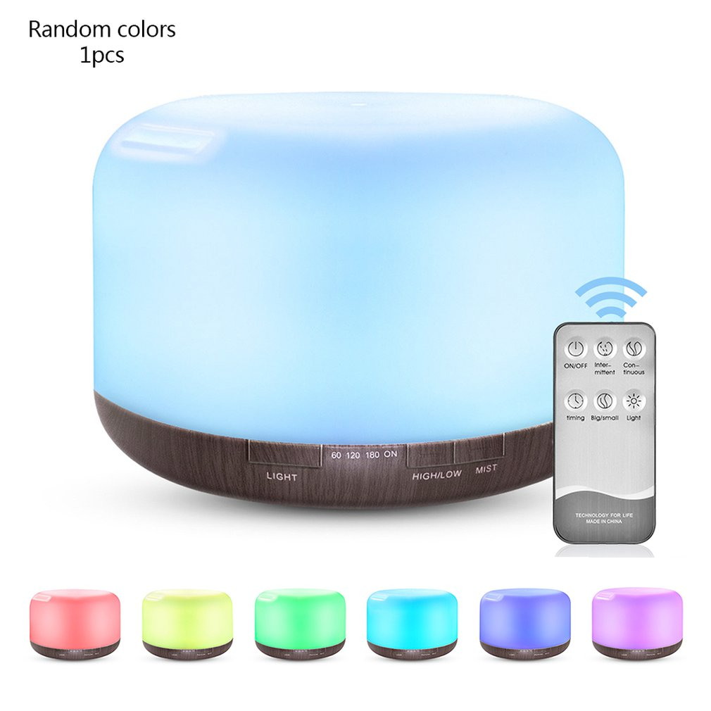 500ml Essential Oil Diffuser Humidifier Mist Ultrasonic Aromatherapy Home Office