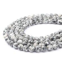 Grânulos redondos do granito da forma solta pedra da jóia 6-10mm apropriado para fazer a jóia diy pulseira colar