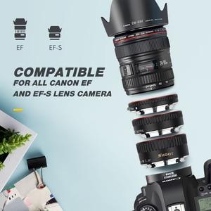 Image 4 - SHOOT Red Metal TTL Auto Focus Macro Extension Tube Ring for Canon 600D 550D 200D 800D EOS EF EF S 6D for Canon Camera Accessory