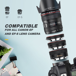Image 4 - Schieten Rode Metalen Ttl Autofocus Macro Extension Tube Ring Voor Canon 600D 550D 200D 800D Eos Ef EF S 6D voor Canon Camera Accessoire