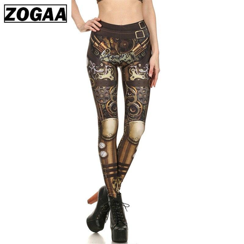 ZOGAA Brand New BARBARIAN Skull Women Leggings Printed Leggins Woman Pants  Black 2019 Summer