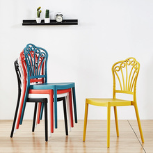 Modern Plastic Chair Restaurant Dining Chairs Cafe Bar Office Meeting Business Chair Nordic Home Bedroom Learning Plastic Chair plastic chairs discuss the chair training chair