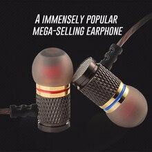 Marke Neue KZ EDR1 Special Edition Gold Überzogene Gehäuse Kopfhörer mit Mikrofon HD HiFi In Ohr Stereo Bass Ohrhörer für telefon