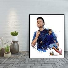 Florian thauvin arte moderna decoração para casa cartazes e impressões olympique de marselha arte da parede pintura em tela