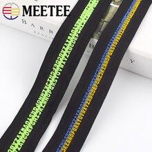 Zipper Individuality Backpack Code-Cutting-Zippers Silder Meetee Resin Special Alphabet