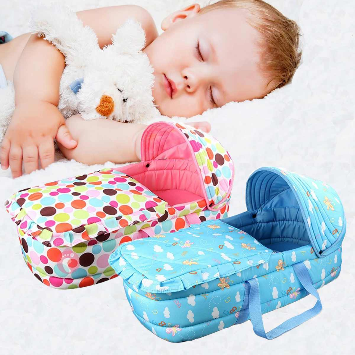 Baby Kids New Infant Co-Sleeping Cribs & Cradles Bedside Cribs Moses Baskets Portable Cribs Toddler Beds Travel Beds