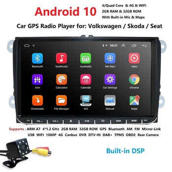 Android 10 Car Multimedia GPS Navigation 1024*600 4 Core for VW Volkswagen Skoda POLO GOLF 5 6 PASSAT JETTA TIGUAN TOURAN Caddy image