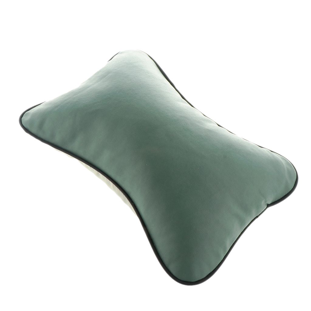 Image 3 - Brand New Durable Superior Quality Leather Pillow Breathable Mesh Cushion Headrest Neck Pillow High Health Care Car Headrest-in Seat Supports from Automobiles & Motorcycles