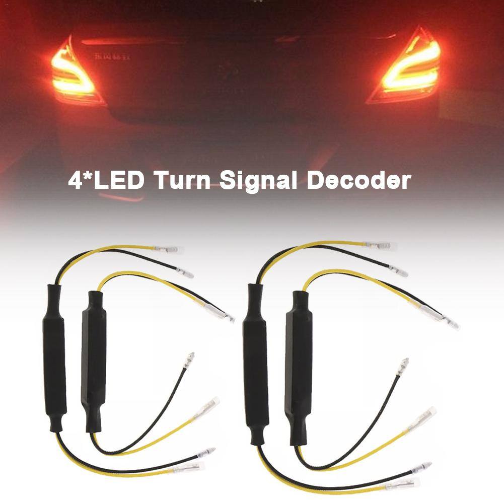 Decoder 4PCS Car Motorcycle LED Turn Signal Decoder Single Resistance Decoder Headlight Trouble Shooting Device|  - title=